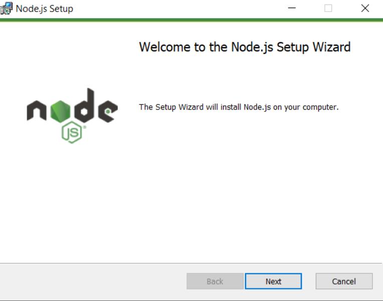 NodeJs Installation Wizard