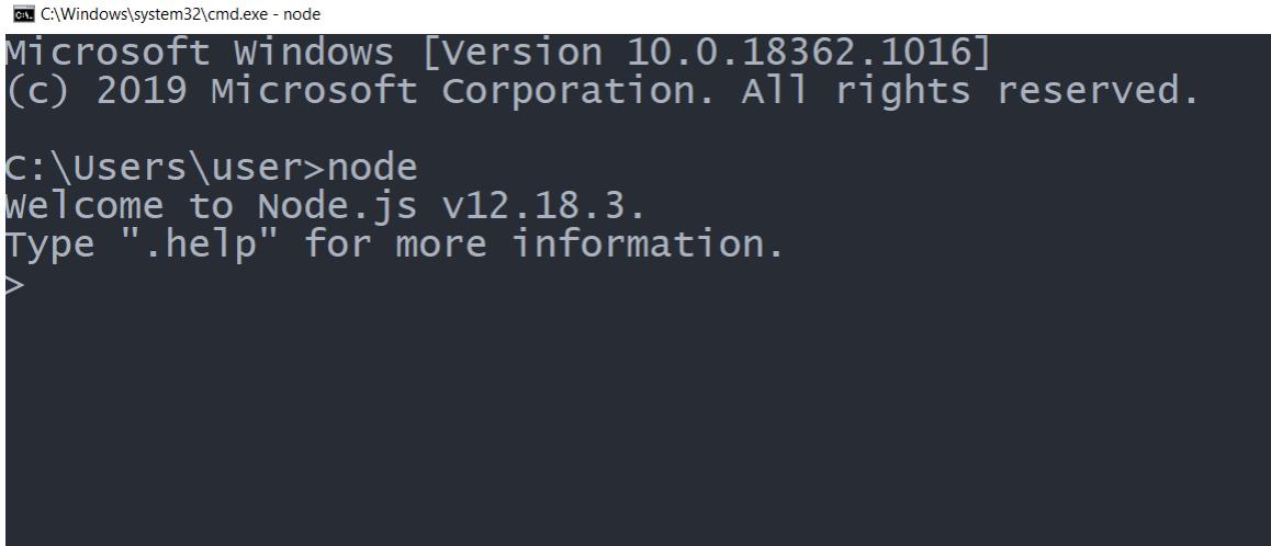 Nodejs Command Line interface REPL